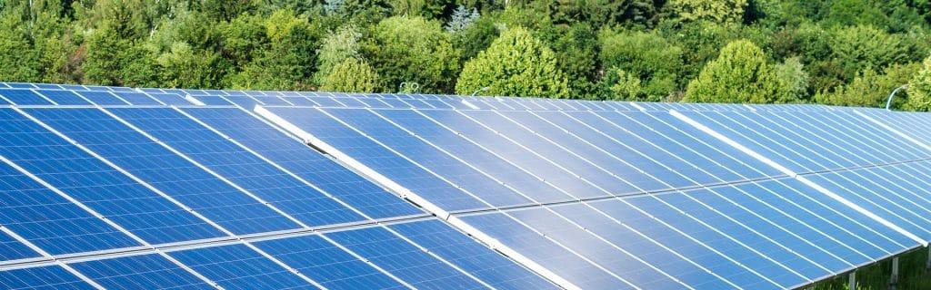 Solarpaneele bei Domberger
