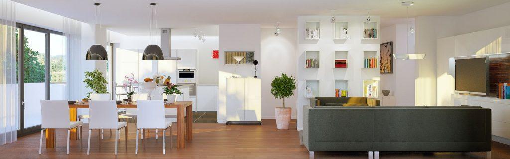 Schön eingerichtete Wohnung