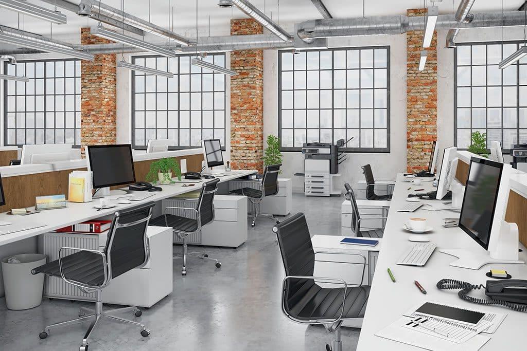 Gut eingerichtetes Büro